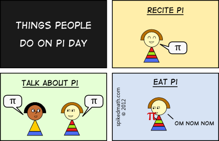 What people do on PI day comic